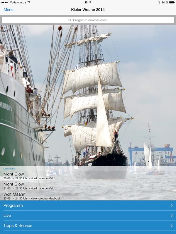 Auch 2014 alles im Blick mit der kostenlosen Kieler-Woche-App