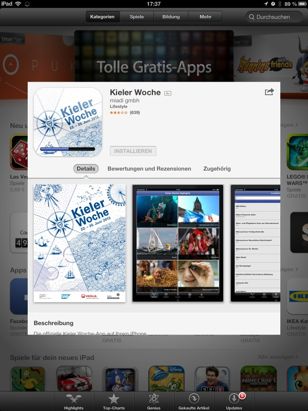 Die Kieler-Woche-App 2013 ist veröffentlicht!
