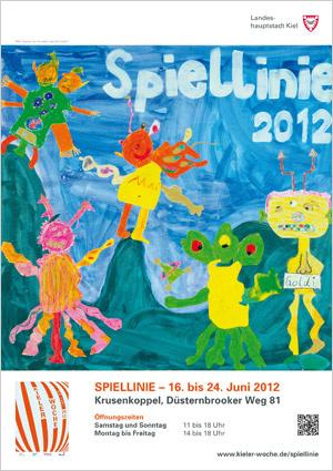 Kinder der Grundschule Suchsdorf malten das Plakat der Spiellinie 2012